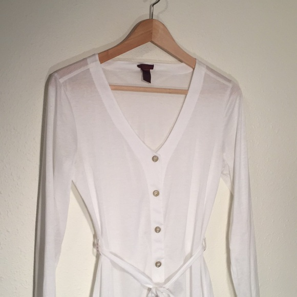 Zovo Cotton Dressing Gown Medium Sheer White | Poshmark